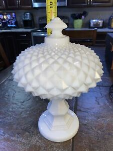 Westmoreland  Sawtooth milk glass compote Candy Dish Pedestal