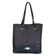"""Black Linen Look Tote Bag w/ """"Blessed"""" Badge by Christian Art Gifts"""