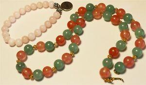 Vintage In Seattle mixed semi precious gemstone bracelet necklace needs hook