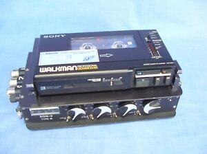 SONY WALKMAN WM D6C STEREO CASSETTE CORDER & SQN -3 MIXER WITH DOCKING STATION