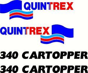 Quintrex 340 Cartopper Boat Sticker Decal 4 Piece set