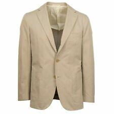 NWT CARUSO Tan Cotton 3 Roll 2 Button Sport Coat Size 48/38 R Drop 8