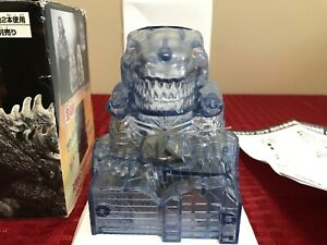 GODZILLA Piggy Bank with SOUND & LED Light Green Eyes Banpresto FREE Shipping!