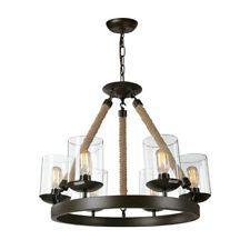 LNC Retro Rustic 6 Lights Chandelier  for Kitchen Island, Dining Room