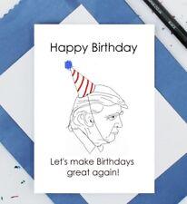 Donald Trump Tarjeta De Cumpleaños-tarjeta de cumpleaños divertido-Let 's Make cumpleaños gran