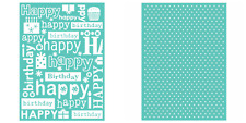 "Cricut Cuttlebug HAPPY BIRTHDAY & SWISS DOTS 5"" X 7"" Embossing Folders NEW"