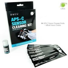 UES APSC-16 DSLR APS-C Sensor Cleaning Kits: 14 X 16mm Swabs + 15ml Cleaner
