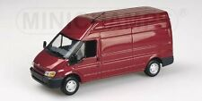 Ford Transit Delivery Van 2000 Red Metallic 1:43 Model MINICHAMPS