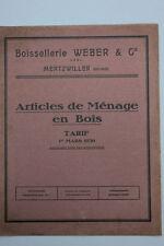 Boissellerie Weber & Cie., Mertzwiller - Haushaltsgeräte aus Holz, Katalog 1930