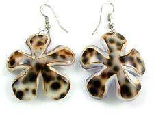 Natural Flower Cowry Shell Dangle Drop Earrings Handmade Women Jewelry  GA191