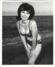 Vintage 1960s Bunny Yeager Autographed Photograph Bikini Pin-Up Gloria Hempstead