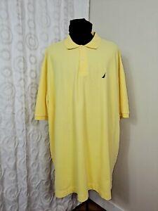 Nautica Yellow Performance Deck Polo Shirt 3XLT