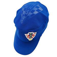 CROATIA BLUE HNS LOGO ON BRIM FIFA WORLD CUP MILITARY STYLE FLEXFIT HAT CAP