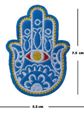 Hamsa hand Iron On / Sew On Patches motif Embroidery india henna art applique