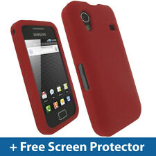 Red Silicone Skin Case for Samsung Galaxy Ace S5830 Android Cover Holder