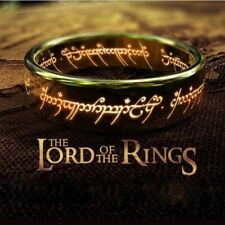The Lord of The Rings for Men 18K Gold Plating Stainless Steel Ring Jewelry