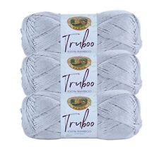 Lion Brand Yarn 837-149 Truboo Yarn, Silver (Pack of 3 skeins)
