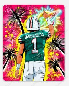 Tua Tagovailoa Miami Dolphins MAGNET - NFL Miami Vice Premium Vinyl Magnet QB