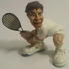 TENNIS PLAYER W/ RACQUET STATUE DESKTOP FIGURE/FIGURINE COLLECTIBLE PAPERWEIGHT