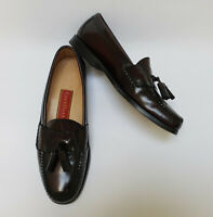 Cole Haan Mens Shoes Burgundy Pinch Tassel Loafers Slip On Size 10 B