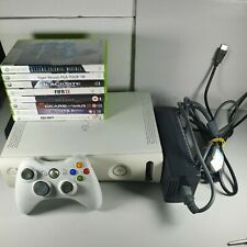 Microsoft Xbox 360 White 120GB Console Bundle 8 Games 1 Official Controller
