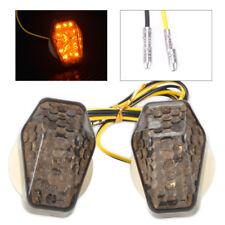 For Suzuki DL 650 GSXR Custom Smoke LED Flush Mount Turn Signal Blinker Marker