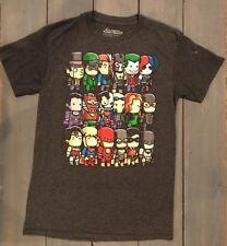 SCRIBBLE NAUTS T-Shirt Cartoon DC COMICS Justice League Gray Boy Sz S (14) Youth