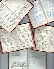 5 Handwritten Diaries West Perry Wyoming County New York Father's Death 1952-58
