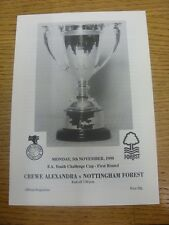 05/11/1990 Crewe Alexandra Youth v Nottingham Forest Youth [FA Youth Cup] (4 Pag