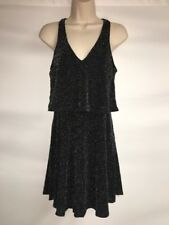 Express Dress Black Silver Womens Small Sleeveless NWOT