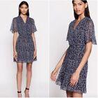 MSRP+%24395+Equipment+Lisle+Navy+White+Floral+Ditsy+Silk+Mini+Dress+size+8+