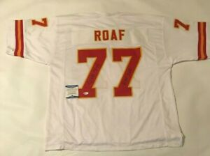 Willie Roaf Autographed Kansas City Chiefs white Jersey Beckett witnessed