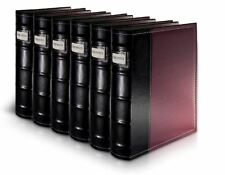 DVD CD Storage Binder System Leather Holds 288 Discs Total Collection Organizer
