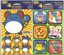 2 NEW packs POKEMON Stickers! Pikachu
