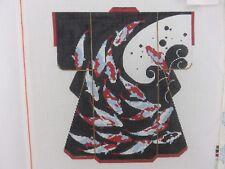 Lee SPM330 KOI FISH JAPANESE KIMONO Asian Hand-Painted Needlepoint Canvas NEW