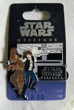 Disney Star Wars Weekends 2007 Pin - Han Solo & Chewbacca Limited Edition