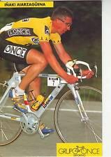 CYCLISME carte  cycliste INAKI AIARZAGUENA équipe ONCE 1993