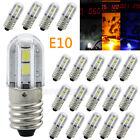 E10 LED-Schraubsockel Birne 6V-220V Leuchtmittel Lampe Leuchte Beleuchtung