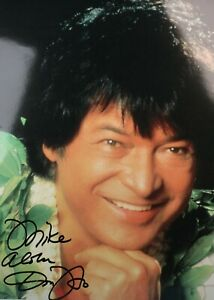 "Don Ho Signed 8""x10"" Color Photo Autographed Hawaiian Musician "" Tiny Bubbles """