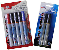 Whiteboard Markers, Dry-Erase, Black & Multicolored, Home, School & Office