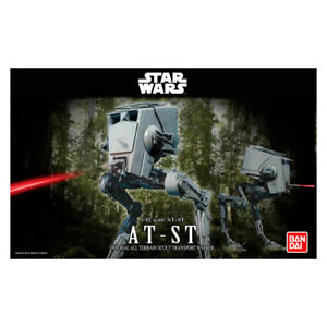Bandai Star Wars AT-ST Scout Walker Science-Fiction Plastic Scale Model Kit 1/48