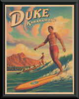 1920s Surfing Legend Duke Kahanamoku Poster Reprint On 100 Year Old Paper *243