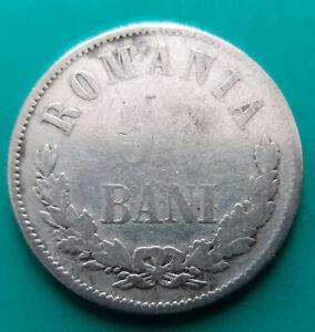 ROMANIA 50 bani 1873 silver coin