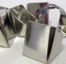 5 Wide Platina Solid Adjustable Band RING Base Blanks Finding Settings Steampunk