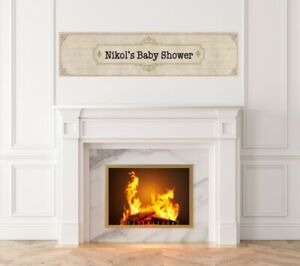 Library Card - Baby Shower Printed Banner - Indoor Outdoor Library Card Banner
