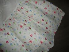 POTTERY BARN FLORAL MEADOW FLOWERS RED PINK BLUE GREEN WHITE BEDSKIRT 14""