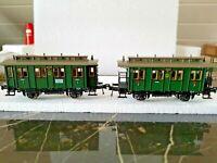 2 X Fleischmann H0: 2 Personenwagen, Länderbahn Ep.I: 5058 + 5059, NEU-wertig!