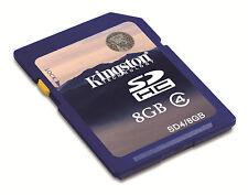 SCHEDA DI MEMORIA KINGSTON 8GB CLASSE 4 SD HC SDHV SD4/8GB MEMORY CARD