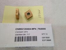 10 NEW  SECO CNMG 431-MF4 CARBIDE INSERTS. GRADE TS2000 {M11A}