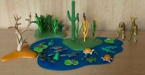 Playmobil Wasserstelle mit vielen Tieren